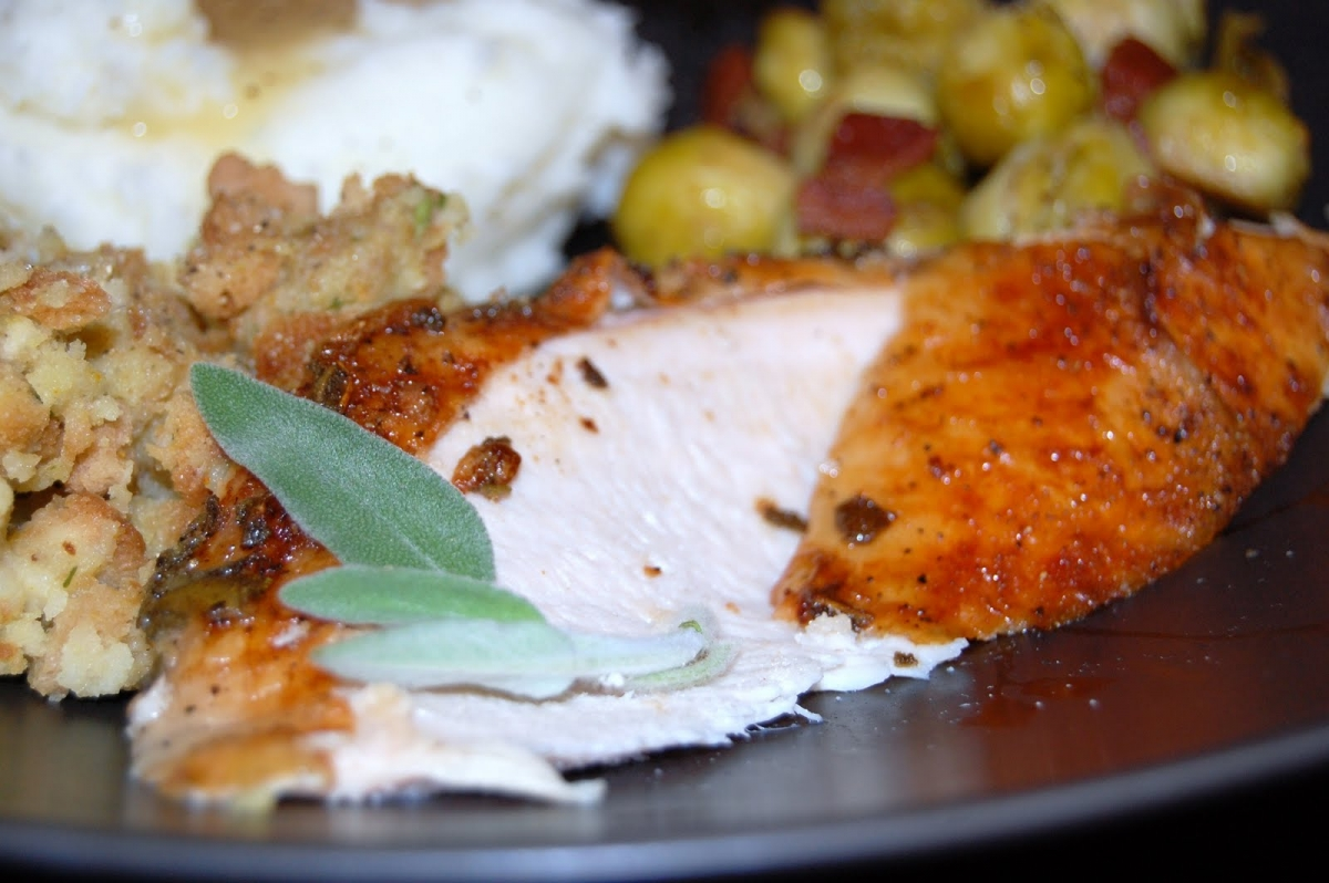 Roasted Garlic and Sage Butter Turkey Breast » A Country ...